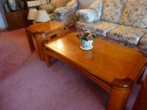 Perfect Condition Solid Wood Coffee and Side Tables