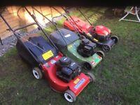 Lawn mowers petrol. (Job lot £100)