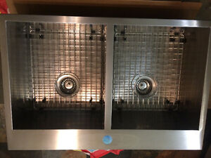 Stainless Kindred double sink with new taps