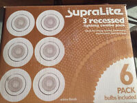 Recessed pot lighting combo packs, bulbs included (SupraLite)