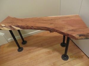 Live edge table/bench by Red Rooster-#Father's Day Discount