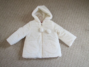 Girls Faux Fur Dress coat - Size 2T