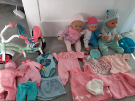 Baby dolls -including Baby Born and accessories