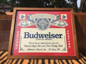 Budweiser Sign.