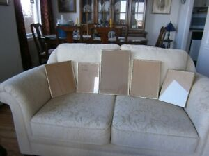 FIVE METAL FRAMES COMPLETE WITH GLASS