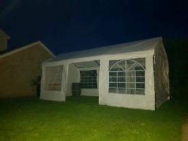 White 6m by 3m Marquee and barrel HIRE