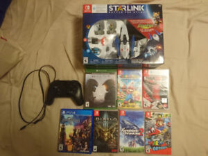 Assorted Switch, PS4, and Xbox games