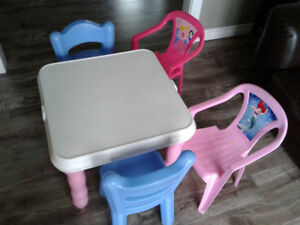 Kids little tikes table& chairs