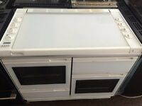 White new world 100cm gas cooker grill & double oven good condition with guarantee