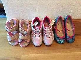 NEW girls size 12 Trainers, Party Shoes, Sandals