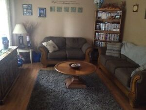 In Peterborough. Couch & Love Seat and coffee table  Kawartha Lakes Peterborough Area image 1