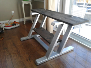 Welded steel tv stand