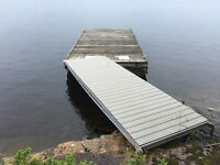 Floating Dock 10' x 20' and Composite Deck Alum Frame Ramp