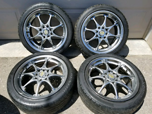 "16"" Advanti Racing Rims w/Dunlop tires"