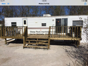 STEEP ROCK, MB 40 foot park model trailer for summer rental