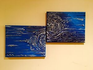 acrylic canvas painting (abstraction)