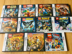 **CHAMBLY - NINTENDO DS JEUX LEGO 15 $/ CHACUN