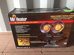 Double burner propane heaters