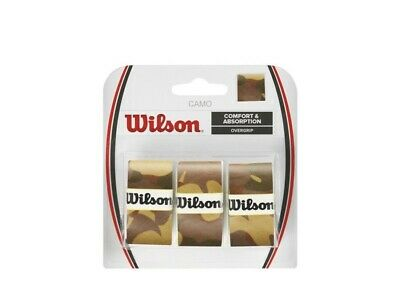 WILSON CAMO  OVERGRIP BROWN , OVER GRIP  FOR TENNIS, BADMINTON , PADEL SQUASH