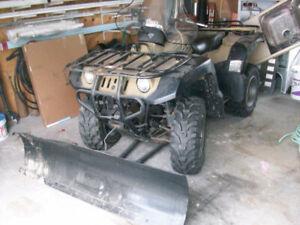 1999 600 Grizzly YAMAHA Quad w/ Plow