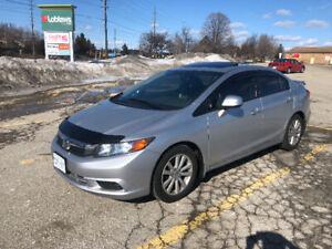 2012 Honda Civic ex, 4 door, automatic