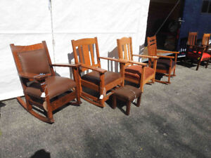 more antique arts and craft rockers and chairs ...restored