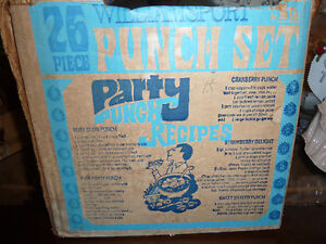 Vintage, still in the box, Punch Bowl set