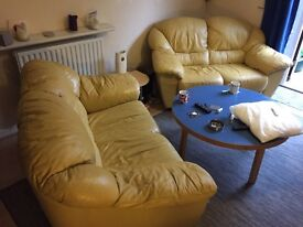 Two real leather sofas!
