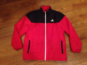 Adidas red and black winter jacket!