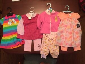 Lot of 4 BNWT baby girl outfits - 6-18 month