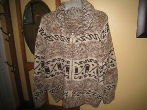 Cowichan Indian Sweater - Handmade - Unisex.