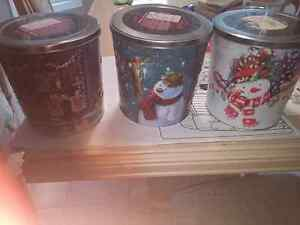 Three Christmas tins