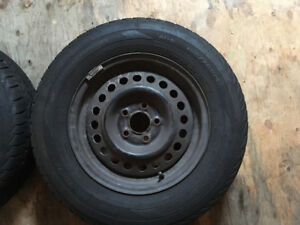 195/70R14 and rims 5 x 100 bolt pattern