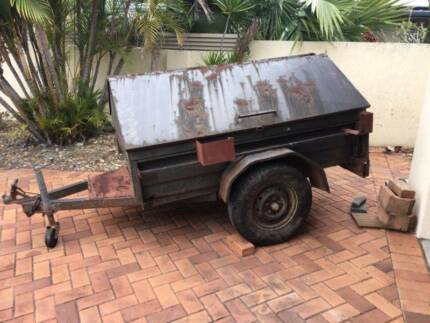 6x4 box trailer with canopy