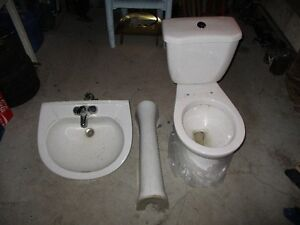 Toilet and Pedestal Sink