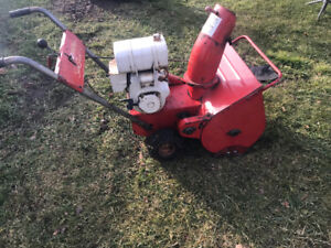 Two snow blowers