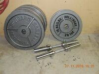 Olympic Plates And Solid Dumbbell Handles