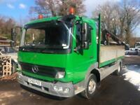 2011 60 Mercedes-Benz Atego 1018 10 Ton Dropside wit rear mounted crane
