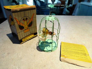 rare  DRINKING BIRD TOY in CAGE Hilly Billy BUDGY Magnatex ENGLA