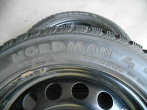 4 Nokian Nordman Winter Tires (205/55/16) with Rims