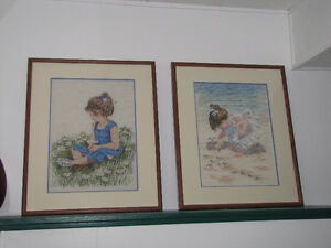 Hand stitched, professionally framed art work
