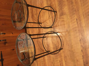 Glass top end tables