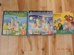 Jeux éducatifs: Camelot junior, Castle Logix, Djeco mémoire