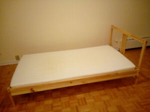 IKEA Luröy twin Bed frame + MINNESUND foam mattress