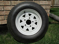 Trailer tire with rim