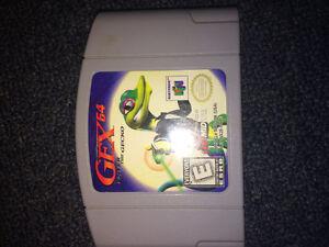 """Nintendo 64 game """"gex64"""""""