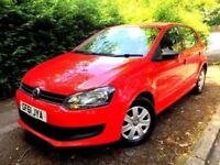 **1 LADY OWNER** 2011 VOLKSWAGEN POLO S 1.2 PETROL RED MANUAL 5 DOOR HATCH