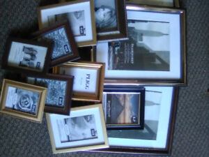 Over 50 assorted picture frames