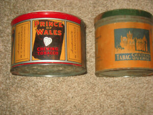 2 Tobacco Tins Prince of Wales & Chateau Quebec