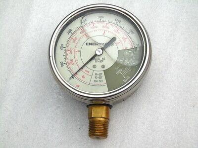 Enerpac Gf-50p 50 Ton Cylinder Pressure Gauge Liquid Filled Hydraulic Meter